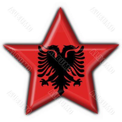 albanian button flag star shape