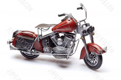 Model of old red bike