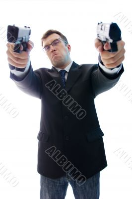 Angry criminal businessman 2