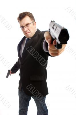 Angry criminal businessman