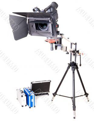 hd camcorder on crane
