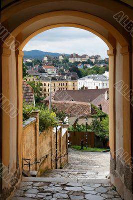 Archway in Melk town in Austria
