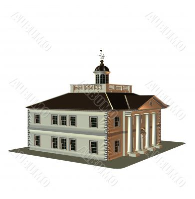The house of classical construction 3D