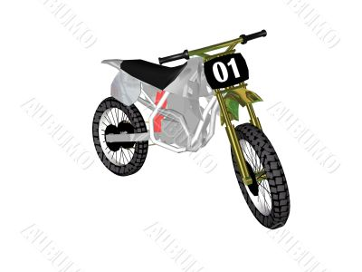 Vehicles a motorcycle 3d