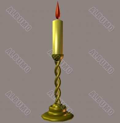 Candle evening light 3D