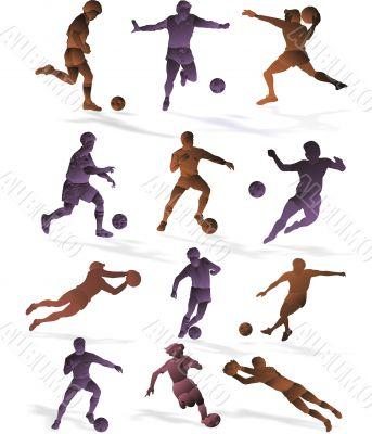 Football 3D a vector of a retro design