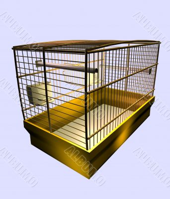 Industrial cage for the maintenance of birds