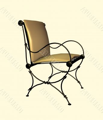 Decorative chair for a house drawing room