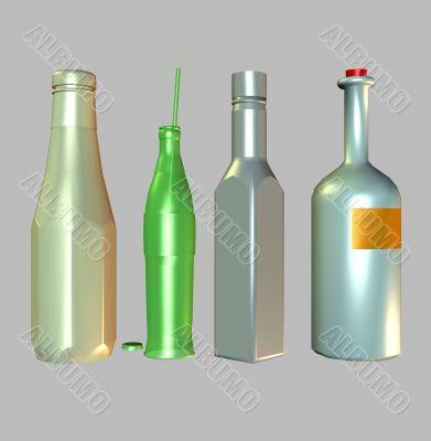 Design 3D bottles for the consumer market