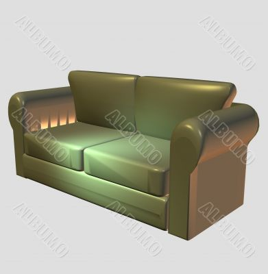 Model of a sofa for a house drawing room
