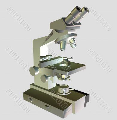 Microscope for scientific works