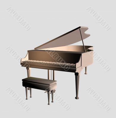 Model of a concert piano