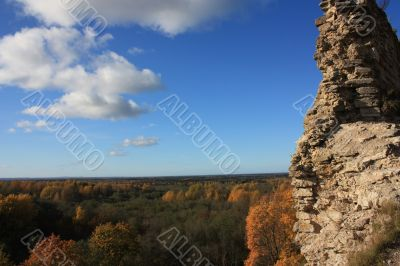 Autumn landscape from height