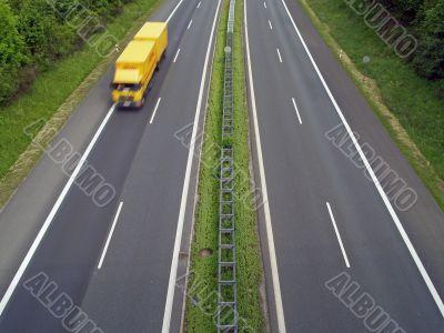 Lorry on Autobahn