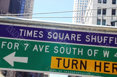 Traffic sign in New York