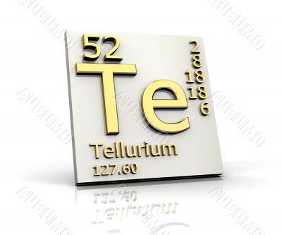 Tellurium form Periodic Table of Elements
