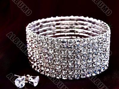 brilliant bracelet and earrings