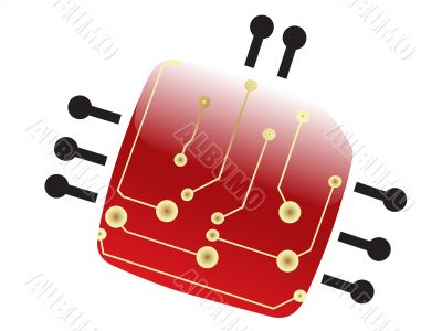 electric scheme bug illustration