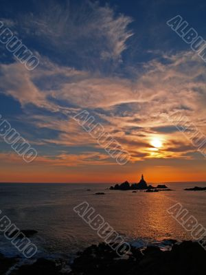 Corbiere Lighthouse on Jersey