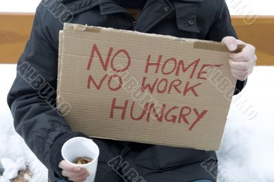 Homeless, unemployed, hungry