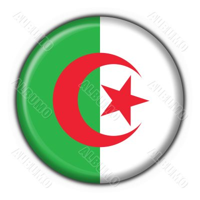 Algeria button flag round shape