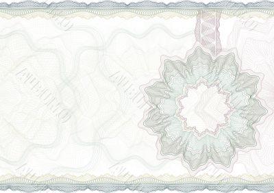 Classic guilloche border for  certificate.