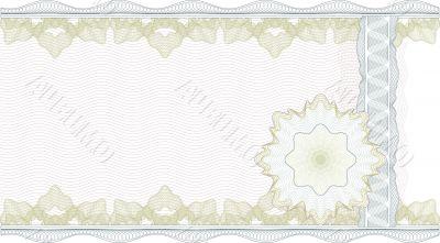 Classic guilloche border for  certificate