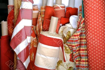 Textiles at a market place