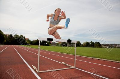 Jumping over a hurdle