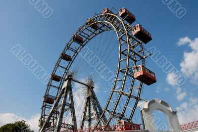 Observation wheel in amusement park