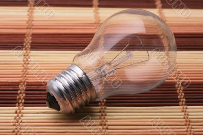 Light bulb with a transparent flask