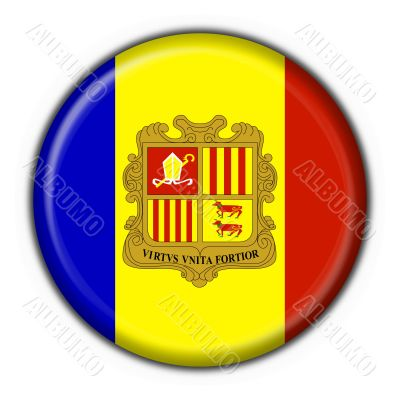 andorra button flag round shape