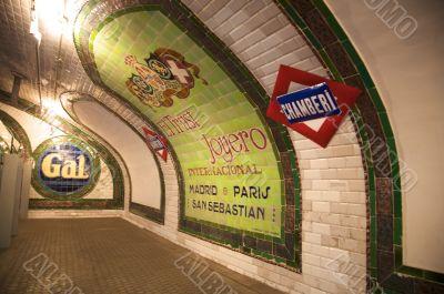 ancient advertising inside underground