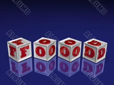 FOOD 3d blockes