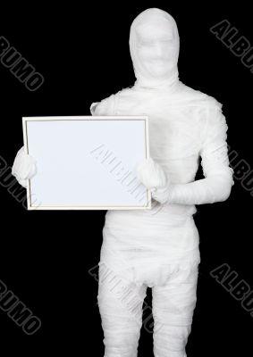 Mummy with blank frame
