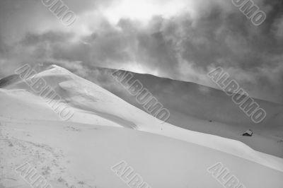 Winter landscape. Lenzerheide. Switzerland
