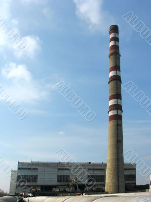 Thermal electric power plant industrial building architecture