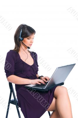 The worker of the call-centre