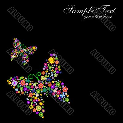 spring flower butterfly