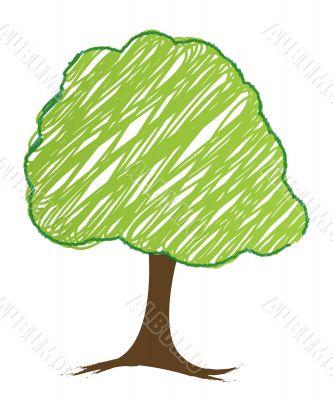 vector tree design, easily editable vector illustration