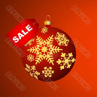 Christmas bulb with snowflakes