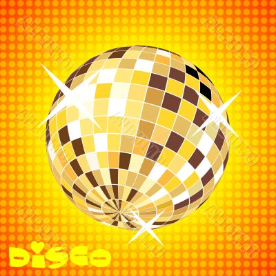 retro party background with disco ball