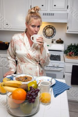 Attractive Woman In Kitchen