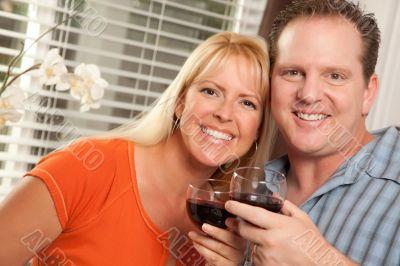 Happy Couple Enjoying Wine