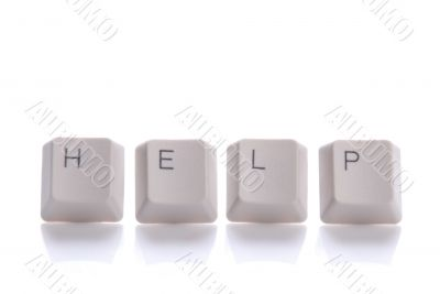 HELP written with keyboard buttons