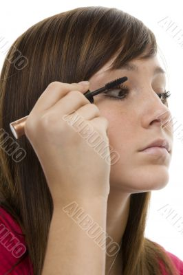 Portrait teenager with mascara