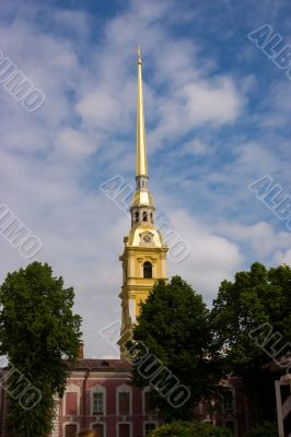 Bell Tower with golden spire