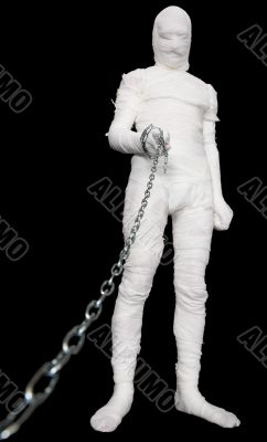 Mummy with chain in hand