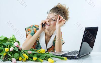 women beautiful office