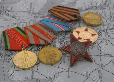 medals on a map